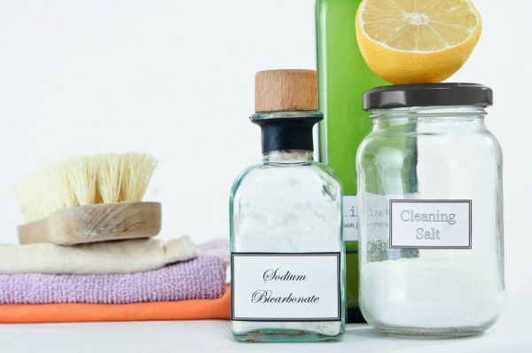 natural cleaning products inside glass jars