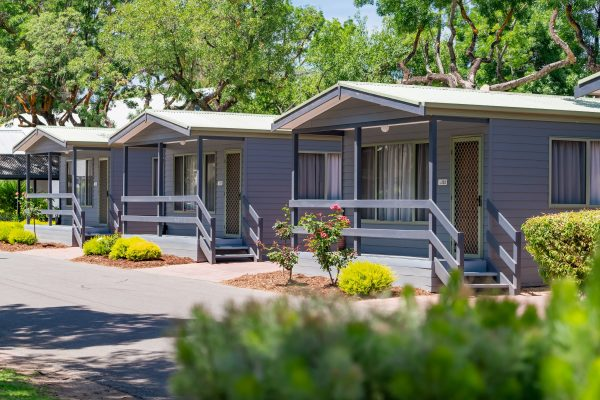 tiny houses at Greenhill Caravan Park