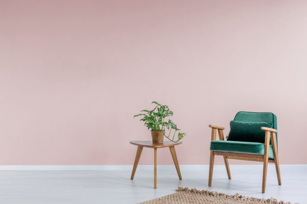 Pink colored wall