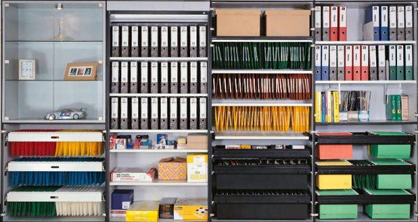 Organised office files